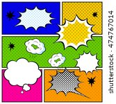 set of comic bubbles in pop art ... | Shutterstock .eps vector #474767014