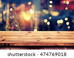 top of wood table with... | Shutterstock . vector #474769018