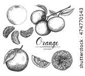 orange   fruit vector element... | Shutterstock .eps vector #474770143