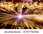 cnc laser plasma cutting of... | Shutterstock . vector #474770356