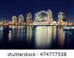 vancouver city night view with...   Shutterstock . vector #474777538
