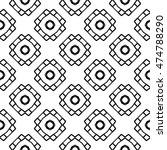 line ornament pattern. black... | Shutterstock .eps vector #474788290