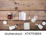 medicine setup. syringe and...   Shutterstock . vector #474793804