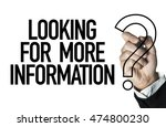 looking for more information  | Shutterstock . vector #474800230