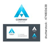 letter a   logo design element... | Shutterstock .eps vector #474803638