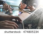 medical technology network team ... | Shutterstock . vector #474805234