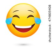 emoji  laugh. emoticon smile | Shutterstock . vector #474805408