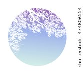 circle with trees and branches... | Shutterstock . vector #474806554