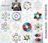 big set of vector arrows ... | Shutterstock .eps vector #474818446