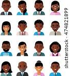 set of vector  african american ... | Shutterstock .eps vector #474821899