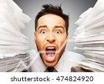 emotional stress. | Shutterstock . vector #474824920