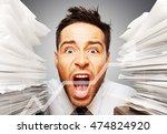 emotional stress. | Shutterstock . vector #474824920