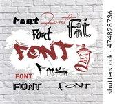 font is graffiti. | Shutterstock .eps vector #474828736