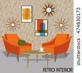 vector illustration of retro... | Shutterstock .eps vector #474830173