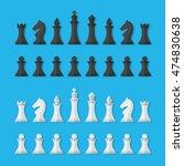 Set Black And White Chess...