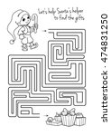 maze game for kids with cute... | Shutterstock .eps vector #474831250