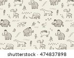 mammoth era line pattern | Shutterstock .eps vector #474837898