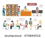 flat library usage stats data...   Shutterstock .eps vector #474844510