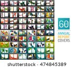 mega collection of 60 vector... | Shutterstock .eps vector #474845389