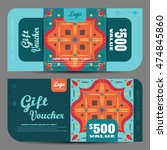 blank of gift voucher vector... | Shutterstock .eps vector #474845860