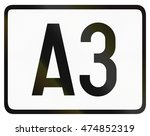 numbered highway shield which... | Shutterstock . vector #474852319