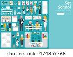 school big collection in flat... | Shutterstock .eps vector #474859768