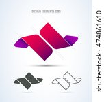 abstract vector jewelry and... | Shutterstock .eps vector #474861610