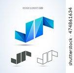 vector origami s logo. design... | Shutterstock .eps vector #474861634