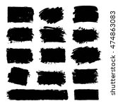 set of hand drawn brushes and... | Shutterstock .eps vector #474863083