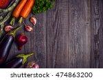 fresh vegetables for cooking on ... | Shutterstock . vector #474863200