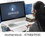 helpdesk support information... | Shutterstock . vector #474865930