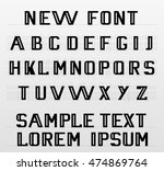 the new font english alphabet | Shutterstock .eps vector #474869764