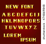 the new font english alphabet | Shutterstock .eps vector #474869848