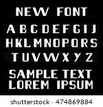the new font english alphabet | Shutterstock .eps vector #474869884