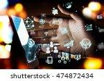 fintech investment financial... | Shutterstock . vector #474872434