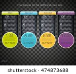 four banner for the tariffs and ... | Shutterstock .eps vector #474873688