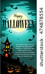 happy halloween message design... | Shutterstock .eps vector #474878554