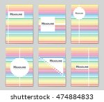 abstract vector layout... | Shutterstock .eps vector #474884833