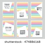 abstract vector layout... | Shutterstock .eps vector #474886168