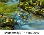 Closeup Small Mountain Brook