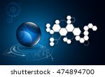 abstract globe with hexagon... | Shutterstock .eps vector #474894700