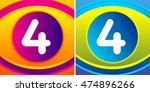 numbers set with eye icon... | Shutterstock .eps vector #474896266