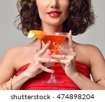 closeup portrait of bartender... | Shutterstock . vector #474898204