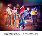friends in bowling | Shutterstock . vector #474899344