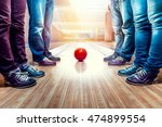 people near bowling ball | Shutterstock . vector #474899554