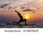 Woman Practicing Sup Yoga At...