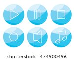 music icon set   play  record ... | Shutterstock .eps vector #474900496