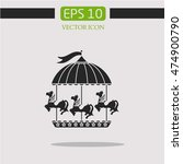 attraction with horses icon... | Shutterstock .eps vector #474900790