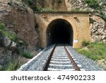 Old Train Tunnel With Railway...