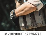 male soldier wearing a... | Shutterstock . vector #474903784